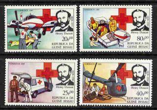 100 SETS GUINEA BISSAU 1985 RED CROSS MINT SET   $900 VALUE