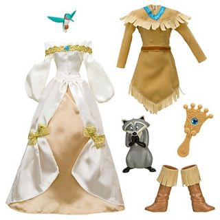 New Disney Princess Pocahontas Dress Doll Clothes Meeko