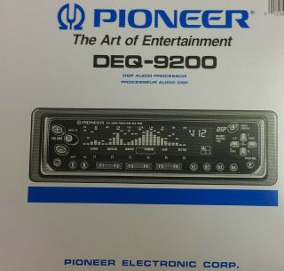NEW PIONEER DEQ 9200 DSP AUDIO DIGITAL SIGNAL PROCESSOR wEQ & SPECTRUM