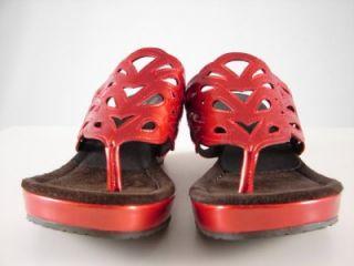 295 Donald J Pliner Size 9 5 M Gustaf Red Patent Leather Platform