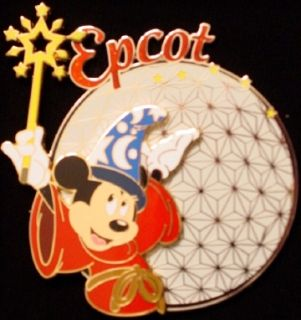 Disney Jumbo PIN Epcot Sorcerer Mickey Mouse 2006 NEW IN BOX Pin on