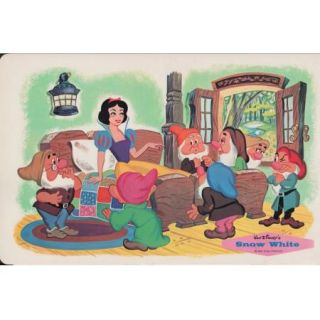 Lot of 4 Vintage Walt Disney Placemats Snow White Mickey Mouse Pluto