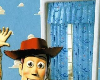 Disney Pixar Toy Story Window Panels Curtains Drapery Window Curtains