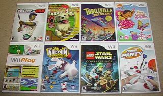 Lot of 8 Family Kids Wii Games Lego Star Wars Rayman Dora Play Party