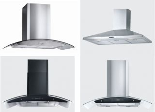 Stainless Steel Wall Mount Style Range Hood Vent Ductless Vent