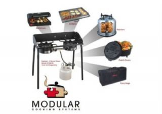 New 30 000 BTU Double Burner Portable Propane Camping Stove