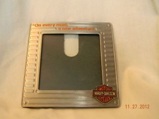 Harley Davidson Magnetic 3x3 picture frame On every road a new