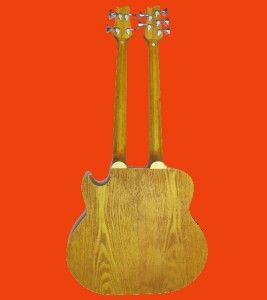 double neck 4 5 string cutaway acoustic electric bass guitar search