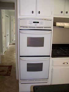 Kenmore White 24 inch Wide Electric Double Oven Self Clean