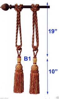 B1 Burdungy Gold Tapestry Wall Hanging Curtains Tassels Tassel Tie