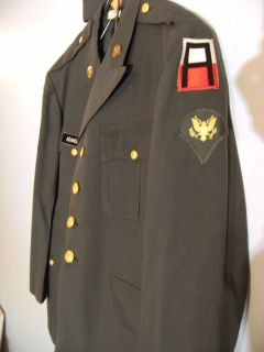 US Army Officer Dress Dark Green Uniform jacket pants Set AIR CADET