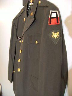 US Army Officer Dress Dark Green Uniform jacket pants Set AIR CADET