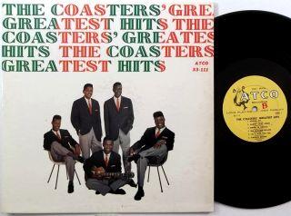 doo wop THE COASTERS Greatest Hits ATCO LP orig HARP LABEL dg
