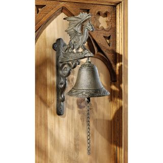 Manor Gothic Cast Iron Castle Dragon Bell Ringer Distinctive Door Bell