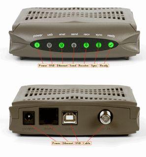 Ambi Ubee U10C018 Cable Modem DOCSIS 2 0 Comcas Xfiniy Cox Charer