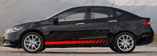 Lower Rocker Panel Stripes for the 2013 & Up Dodge Dart , with the