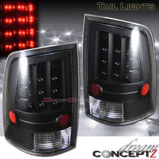 2009 2010 Dodge RAM 1500 2500 3500 LED Tail Lights SLT St TRX Black