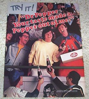 1983 Ad Dr Pepper Soda Pop Drink Baseball Guys Print Ad
