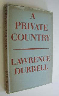 Lawrence Durrell A Private Country Poetry Collection Poems 1st Ed 1943