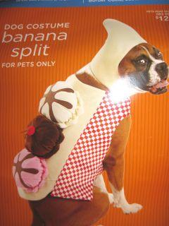 DOG PET HALLOWEEN COSTUME BANANA SPLIT SZ LARGE 25 50 PDS ICE CREAM