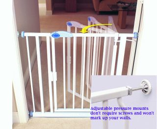 Auto Close Expandable Baby Pet Dog Safety Gate Fence