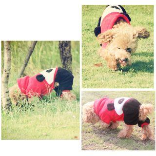 All Sizes Fleece Cute Panda Dog Costumes Hoodies Coats Dog Clothes Pet