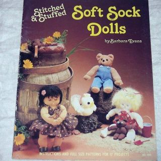 Soft Sock Dolls Animals Pattern Book Cat Panda Dog Skunk Pig