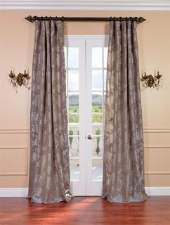 priscilla taupe pewter silk curtains drapes luxurious affordable