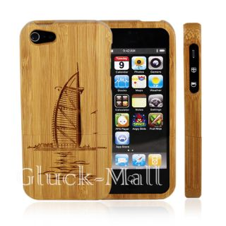 Genuine Natural Real Wood Bamboo Hard Case Cover for Apple iPhone 5g