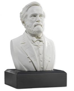 American Civil War General Robert E Lee Bust Statue Marble Finish Gift