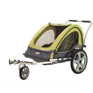 Pacific 12 QL234 Dbl Green/Gray Sierra Bicycle/Bike Trailer stroller