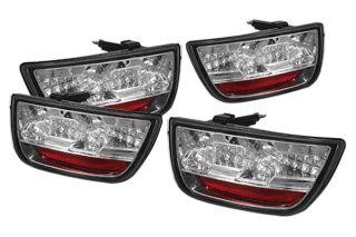 LED Tail Lights Pair Chrome Car Rear Brake Stop Light Spyder