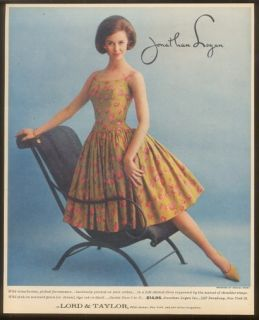 1961 Dreama Peery Strawberry Dress Photo Lord Taylor Ad