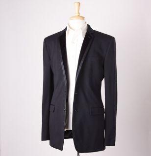 1925 Dolce Gabbana Velvet Trimmed Wool Silk Tuxedo Jacket 38 40 L
