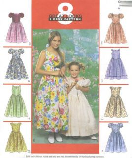 Evening Dress Sewing Pattern V Waist Lace Overlay Option Easy 3489