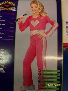 Pink Heart Diva Pop Star Hannah Montana Cute Dress Up Halloween Child