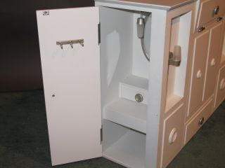 American Girl Doll Wardrobe Closet Murphy Bed Combo