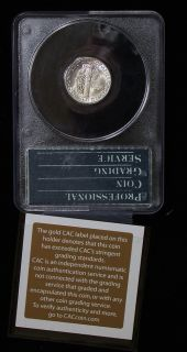 Gold CAC Stickered 1944 D PCGS MS66FB Gem Undergraded Mercury Dime Old