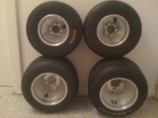 Complete Set Douglas Racing Go Kart Wheels Rims Tires
