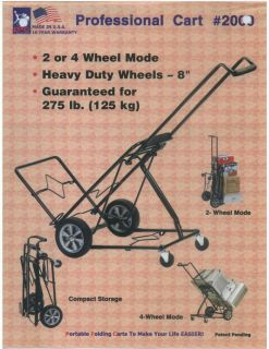 OR 4 WHEEL PORTABLE FOLDING DOLLY MOVING HAND CART TRUCK HOLDS