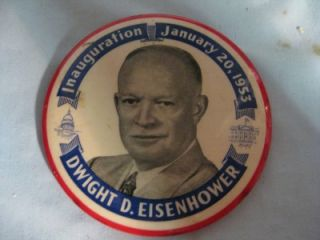 Inauguration 1953 Dwight D. Eisenhower Political Campaign button pin