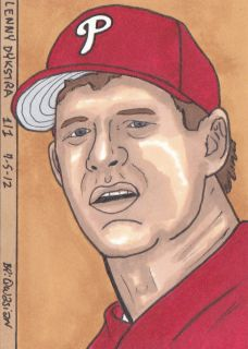 2012 Lenny Dykstra Philadelphia Phillies Baseball 1 1 ACEO Sketch Card
