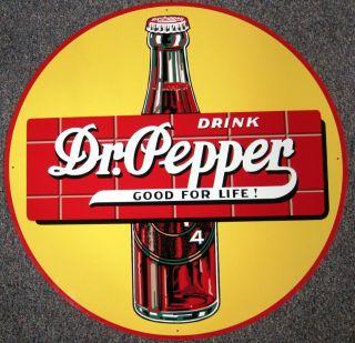35 Huge DRINK Dr Pepper Sign Good for Life! SIGN oop Multi color DECO