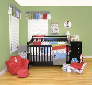 New Trend Lab 5 Piece Crib Bedding Set Dr. Seuss Cat in the Hat