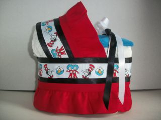 DR SEUSS CAT IN THE HAT BOY GIRL NEUTRAL DIAPER BASSINET BABY SHOWER
