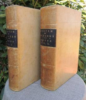 1872 Leather Antique Medical Drug Books Surgery Medicine Surgical
