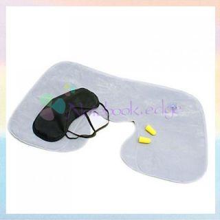 Travel Sleep Set Air Cushion Pillow 2 Ear Plug Eye Mask