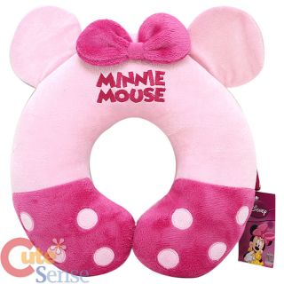 Disney Minni Mouse Neck Rest Pillow Cushion Pink Bow Ear 1