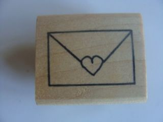 Azadi Earles Rubber Stamp  Mailing Envelope Sealed With Heart