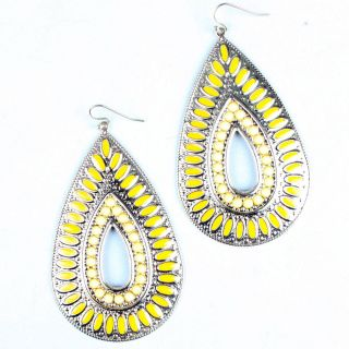 Spring Summer Bohemian Beaded Tear Drop Design New Earrings